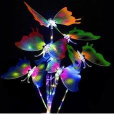 Светящаяся порхающая бабочка на палочке оптом