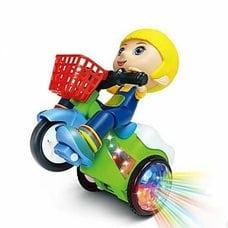 Игрушка Девочка на велосипеде с проектором оптом