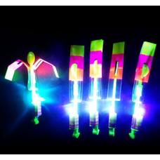 Светящиеся вертолетики с рогаткой оптом 16см